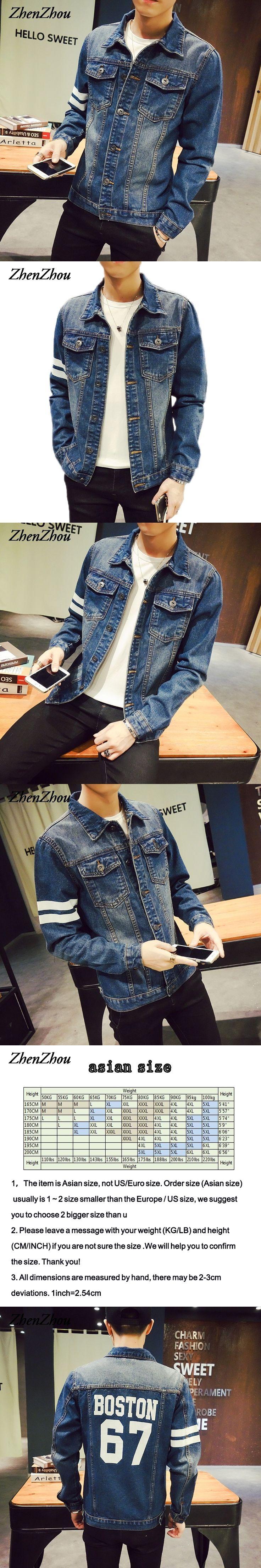 ZhenZhou S-5XL Men Jacket Denim JC32  Bomber Jacket Men Veste Homme Chaquetas Hombre 2016