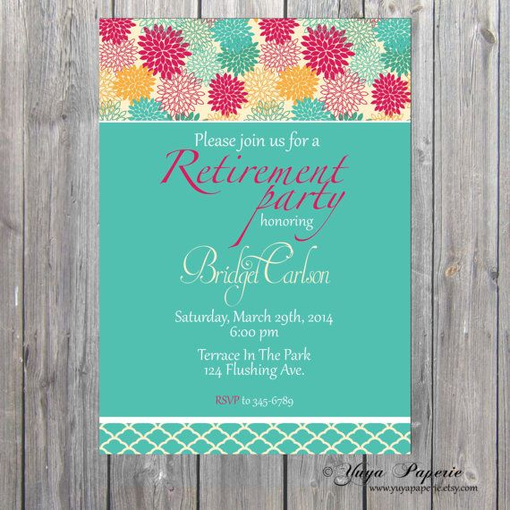 #Retirement Invitation Adult Party Invitation by YuyaPaperie, $14.95