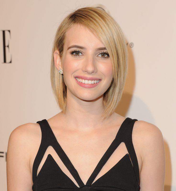 www.marianoparisi.com  5) Emma Roberts porta un bob modernissimo: sfiora la base del collo, è quasi pari e con la riga al lato.