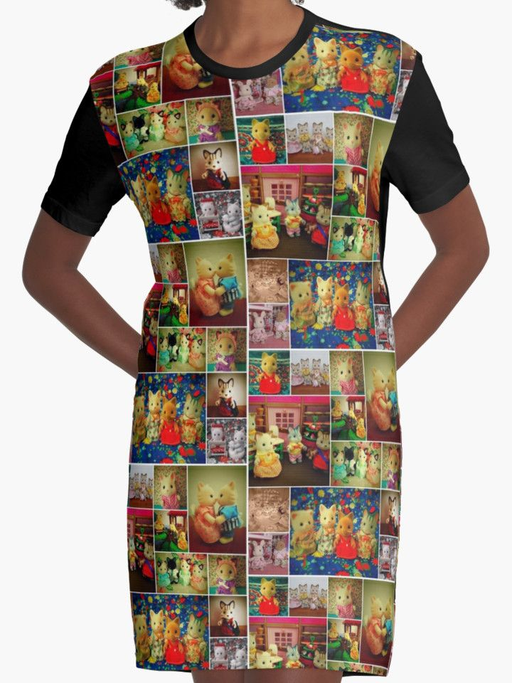 """""""Sylvanian Families ~ Cats"""" Graphic T-Shirt Dresses by Forever Feline 