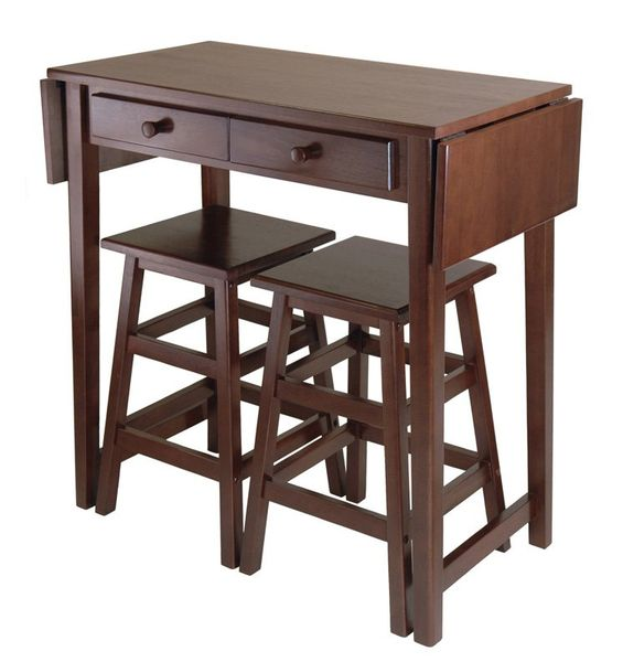 Small Kitchen Table Set Counter Height 3 Piece
