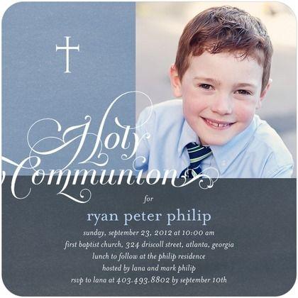 Communion Invitations Timeless Script - Front : Summer Whisper