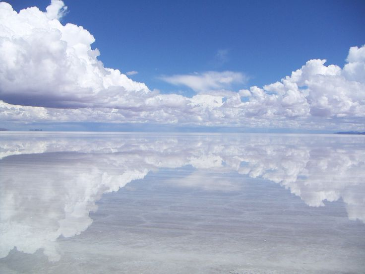 Salar de Uyuni (or Salar de Tunupa) is the world's largest salt flat, when covered with water, the Salar becomes one of the largest mirrors on Earth