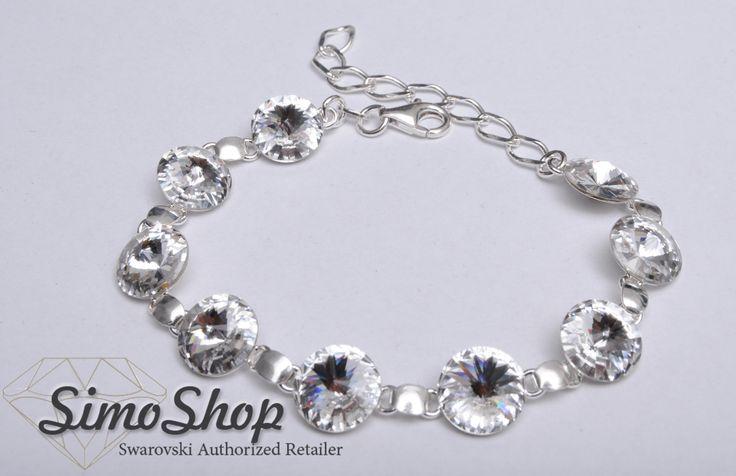 Brățară din argint 925 cu cristale swarovski. #simoshop #bijuterii #accesorii #argint #swarovskicrystals #swarovski