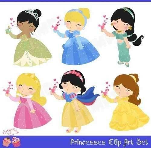kit digital de princesas - Pesquisa Google