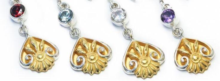 "Fleur De Lis GOLD N SILVER Bali Belly Wholesale Body Jewelry 14g 7/16"""