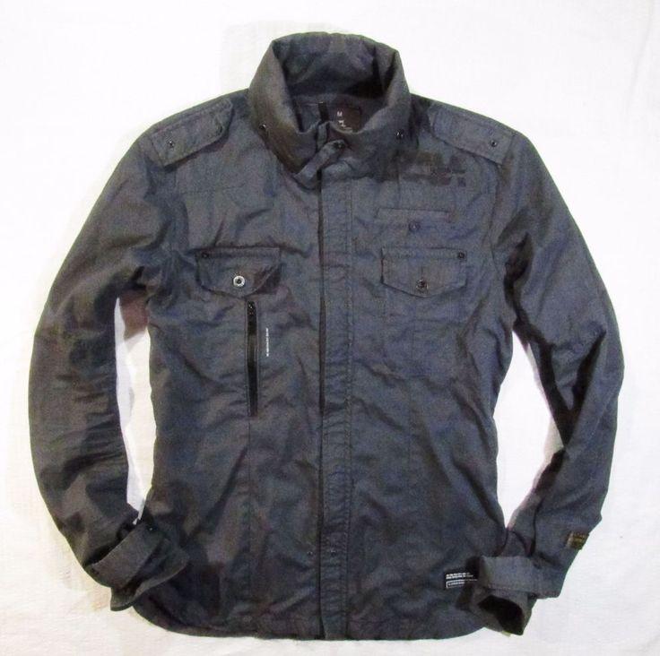 mens  grey jacket G-Star  zip front   Grind Overshirt Size M #GStar #BasicJacket