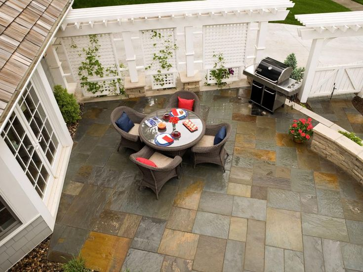 the colors you choose for the pavers could make a new patio or walkway seem as - Patio Walkway Designs