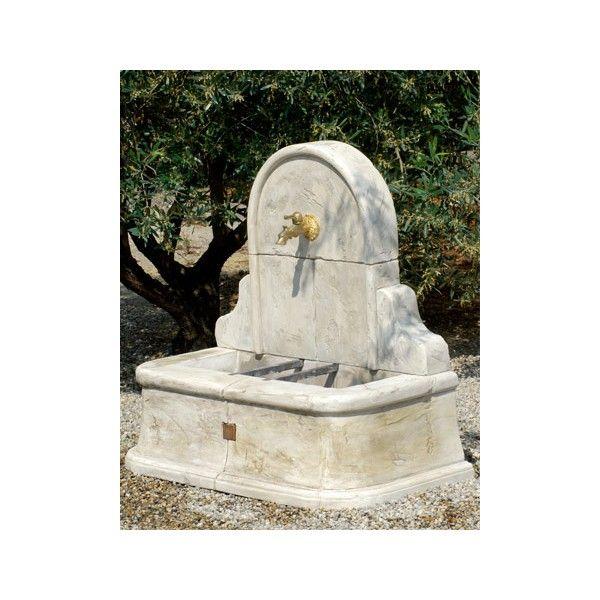 Fontaine murale st tropez pierre reconstitu e achat for Achat pierre deco jardin