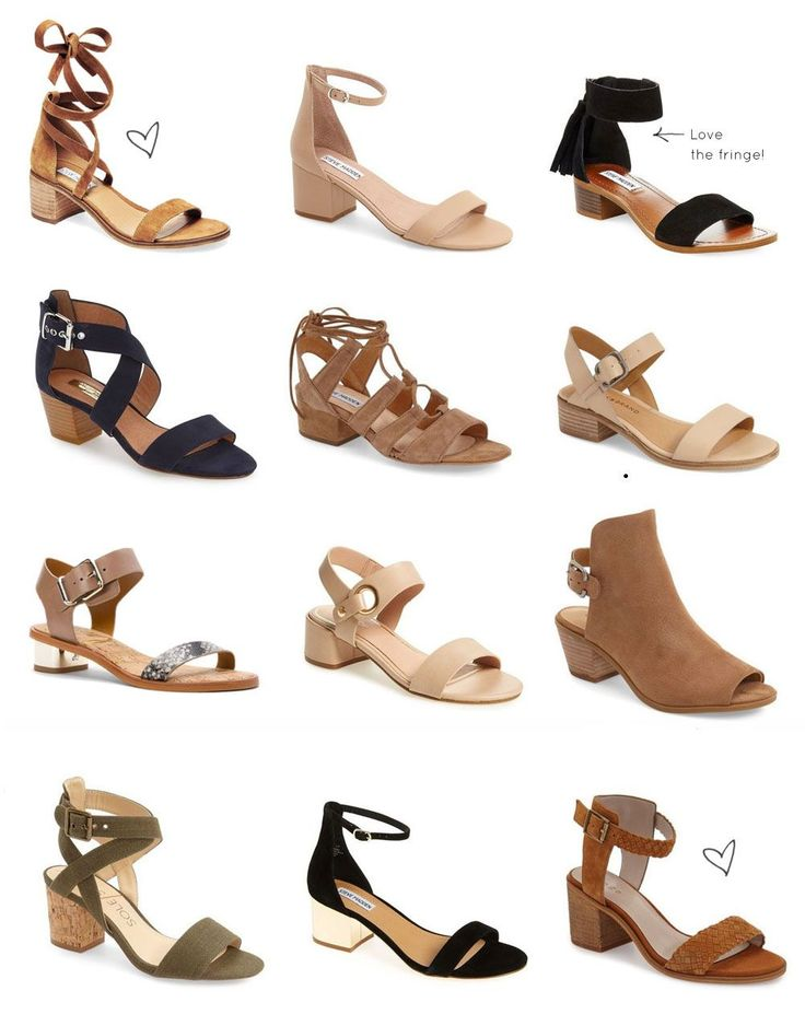Say hello to your new favorite summer shoe trend: low block-heeled sandals. Click through for the details. | glitterinc.com | @glitterinc