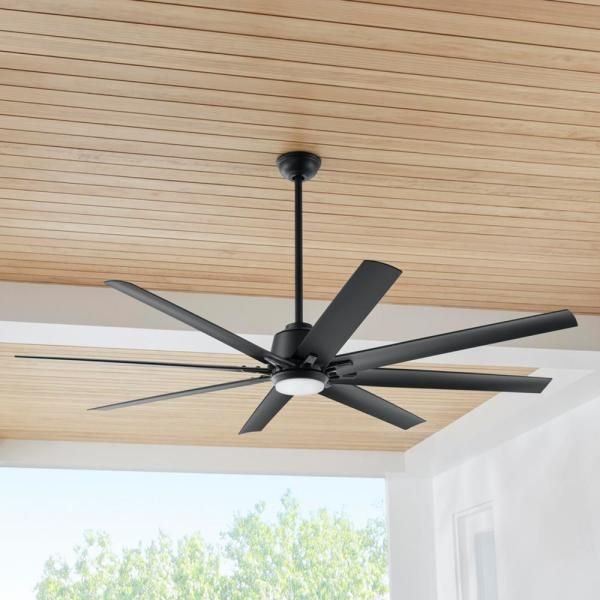 Home Decorators Collection Kensgrove 72 In Led Matte Black Ceiling Fan With Light And Remote Control Work In 2020 Ceiling Fan With Light Black Ceiling Fan Ceiling Fan