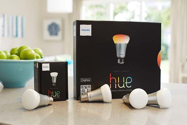 Hue personal wireless lighting, exclusively sold by Apple and all controlled from your ipad or iphone. This truly is the future.