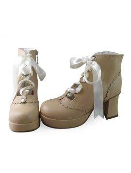 Cream 7.5cm heels 3cm platform