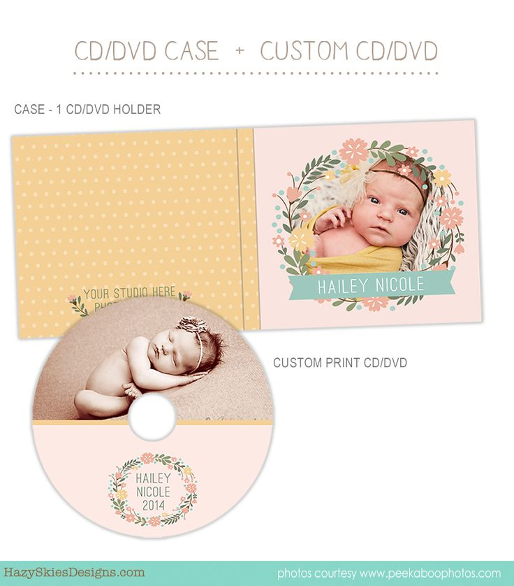 CD Label + CD Case Template for Photographers   #CD #DVD #Template #Photographer #Photography #family photography #newborn #cd case #dvd case #cd label #dvd label #photography templates #photography presentation #photography packaging