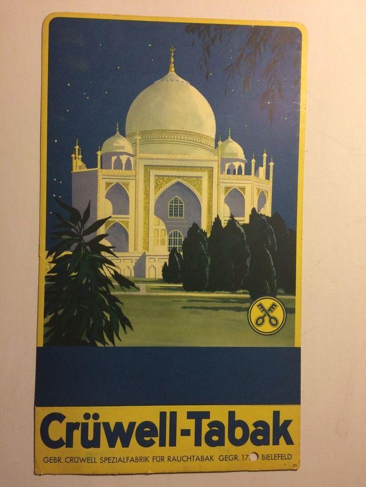 Crüwell Tabak Werbung Pappe Aufsteller Plakat Orientalisch