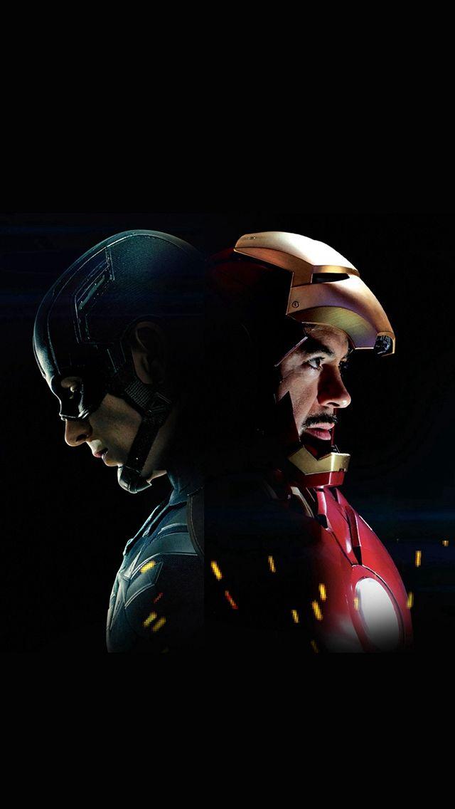 Ilustração Capitão América Civilwar Ironman herói Art iPhone 5s wallpaper