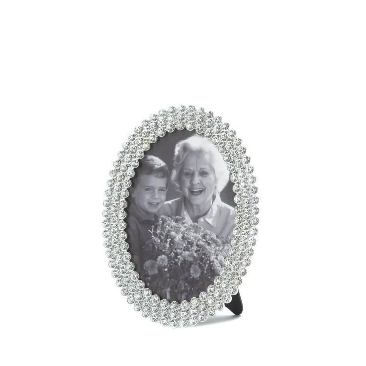 Dazzling Oval Picture Frame #GlitterPictures