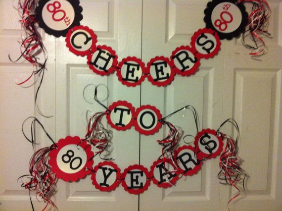 80th birthday decorations cheers to 80 years cheer for 80th birthday decoration