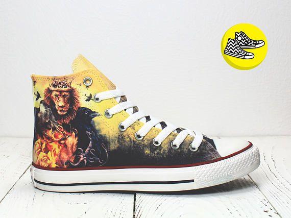 Game of Thrones War of Five kings custom converse sneakers handmade
