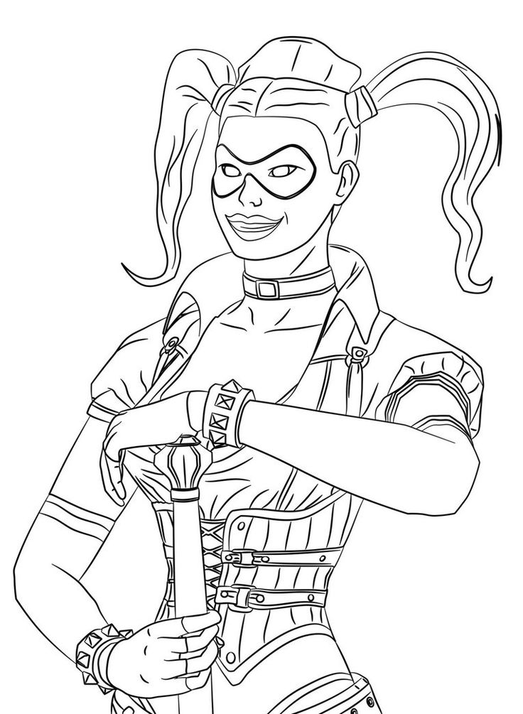 Batman Harley Quinn Colouring Pages Harley Quinn Coloring