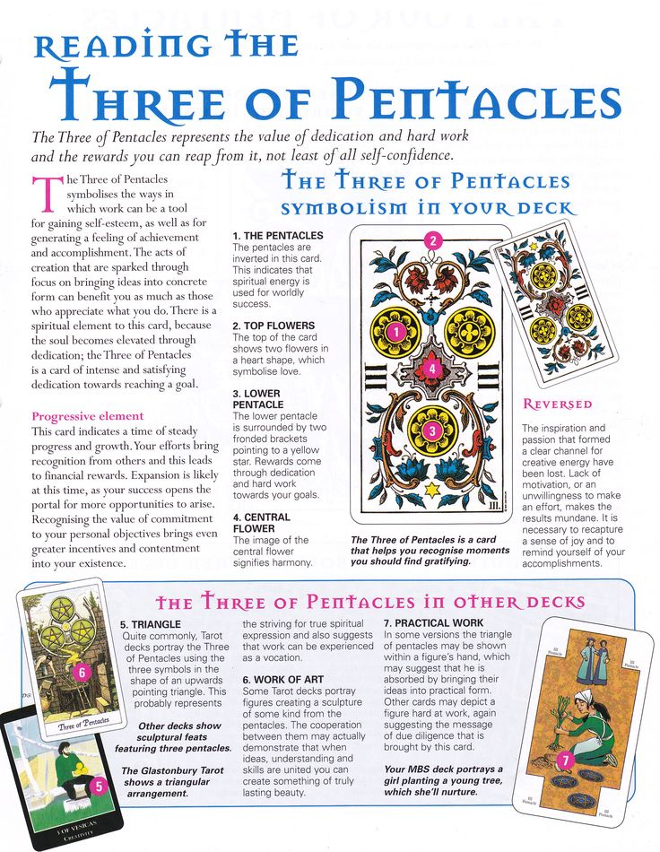 Reading The Three Of Pentacles