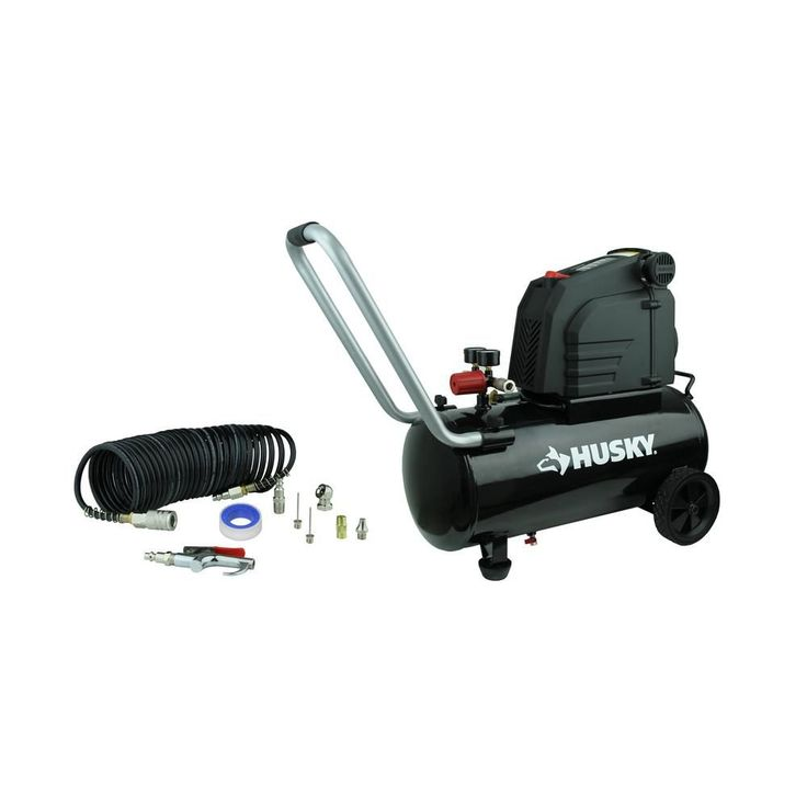 Husky 8 Gal. Portable Oil Free Electric Air Compressor-0300813A - The Home Depot
