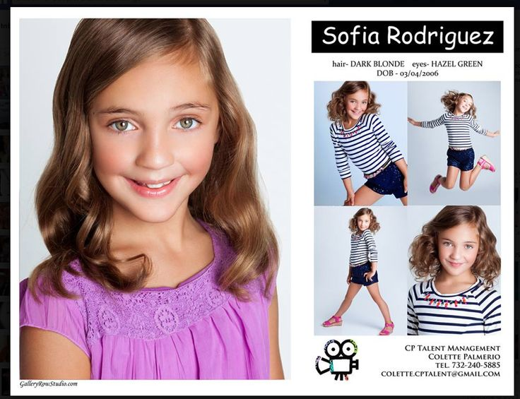 kid comp cards for modeling