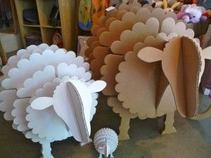Come in and see our new cardboard animals! The sheep make great storage units and the animal heads great decorations. All come flat packed a...