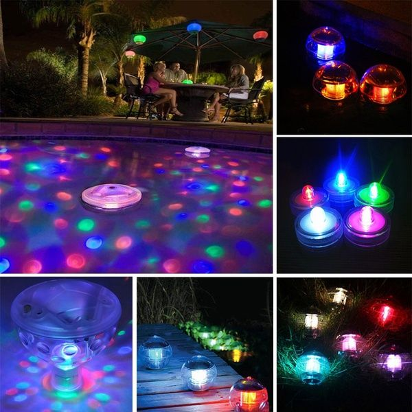 Swimming Pool Underwater Light Show Fountain Led Decor Swim Party Floating Fountain Lights Underwater Lights Pool Fountain