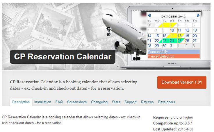Top Booking Calendar WordPress Plugins  Booking Calendar WordPress plugins are utility WordPress plugins, which let you and your visitors schedule appointments online.... Read more at: http://www.wptemplate.com/plugins/top-booking-calendar-wordpress-plugins.html