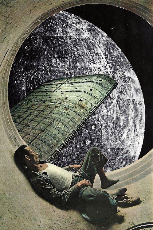 Retro-futuristic, Moon, Space