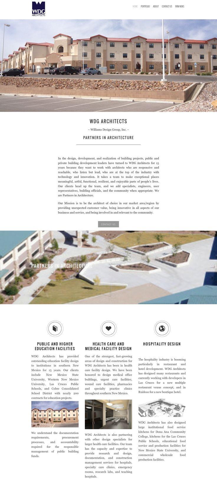 WordPress site wdg-architects.com uses the Architect Marketing Group Template 1 best wordpress theme