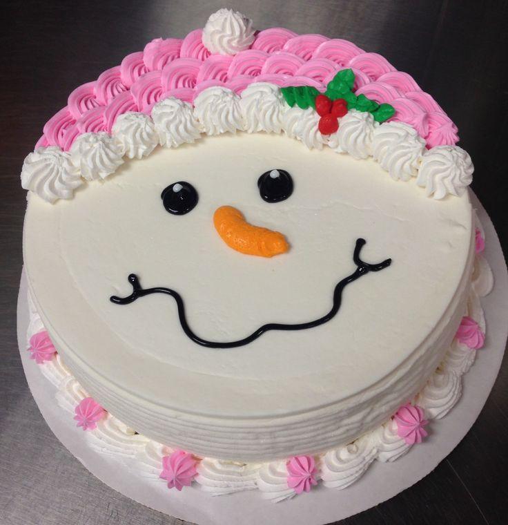 Snowman DQ ice cream cake                                                                                                                                                                                 More