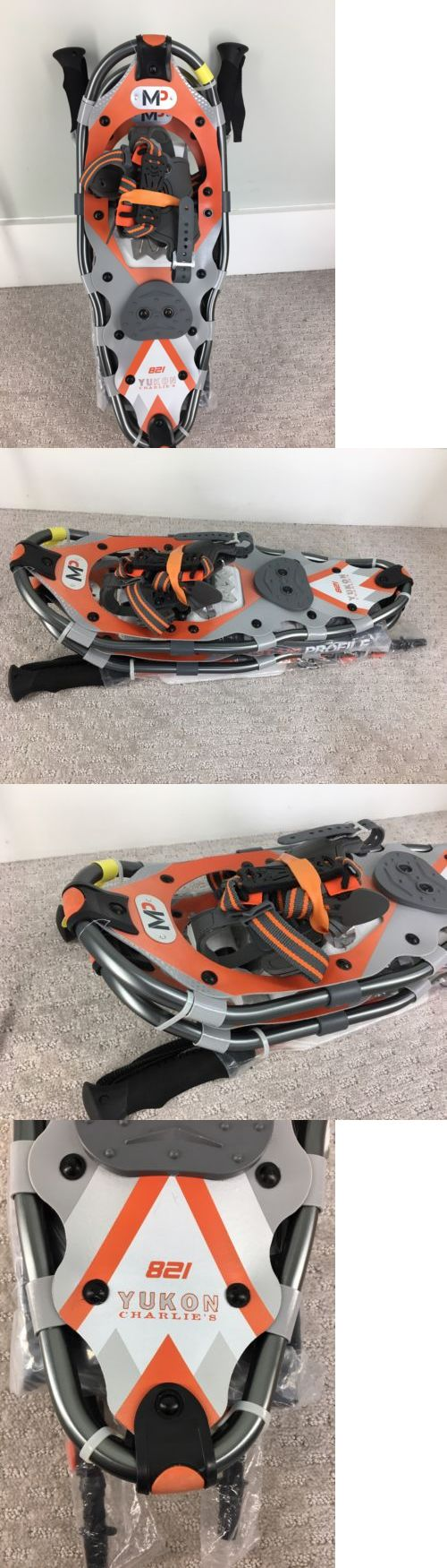 Snowshoeing 58136: New Yukon Charlie S 8 X 21 821 Snowshoe Kit W Hiking Poles And Carry Bag - Orange -> BUY IT NOW ONLY: $60 on eBay!