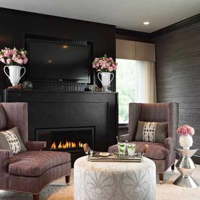 Bedroom design ideas pictures remodels and decor for the home pinterest dark fireplaces - Mauve bedroom decorating ideas ...