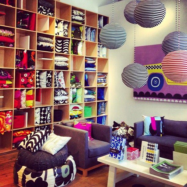 Love the colorful image of Marimekko.      @ Marimekko Flagship Store in New York, NY