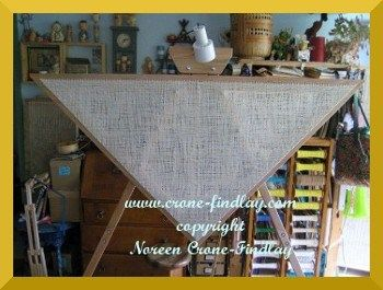 4 panel blanket woven on triangle loom...would like to try it with a 7' triangle for a bed size blanket