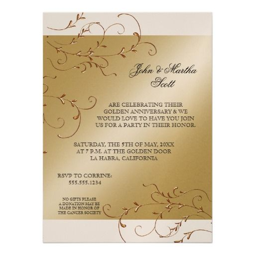 Best Anniversary Party Invitations Images On