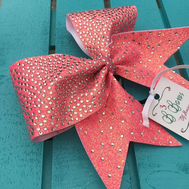 The Hannah Full Rhinestone Glitter Cheer Bow Bling Cheer Bow Cracked Ice Cheer Bow (22.00 USD) by B3BowsMaine