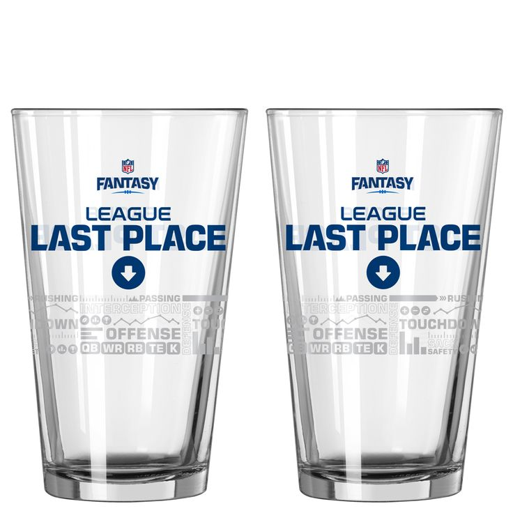 Boelter Brands NFL Fantasy Football Last Place Satin Etch Pint Glass at The Paper Store