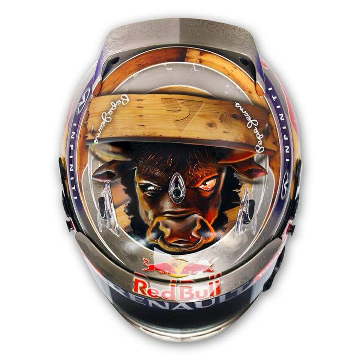 Vettel Helmet Design GP USA RACE | HELMETS F1 | Pinterest