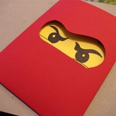 Homemade Lego Ninjago Invitations