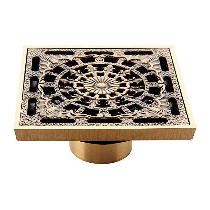 Harpoon Shower Floor Drain Cover Washer 4 Inch Square Brass Bath