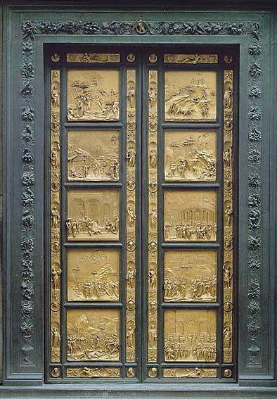 LORENZO GHIBERTI, Porta del Paradiso, battistero di san Giovanni, Firenze