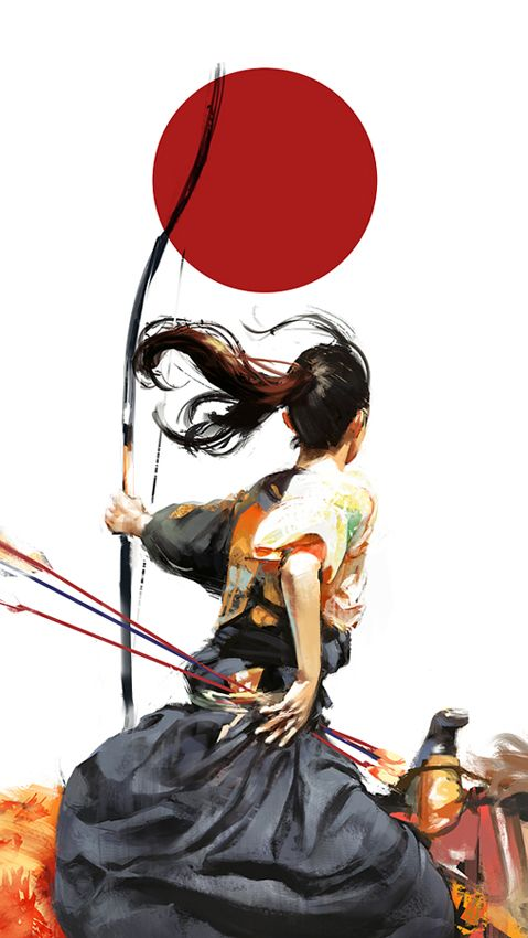 "Archery. Image Spark - Image tagged ""illustration"" - artissimo"