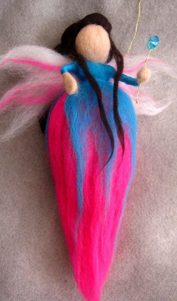 Felt fairy, Wool fairy Needle Felted fairy Magic wool by theEnchantedWool