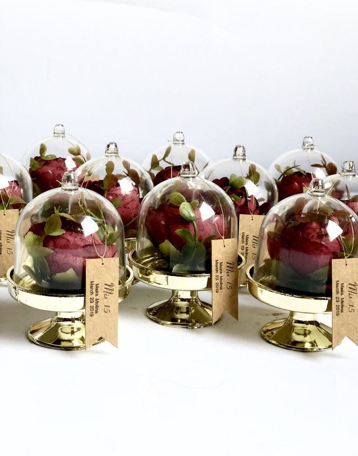 10 pcs beauty and the beast favor cloche dome wedding