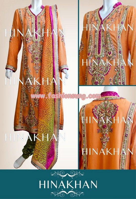 Latest Hina Khan Wedding Wear 2013 Collection For Women