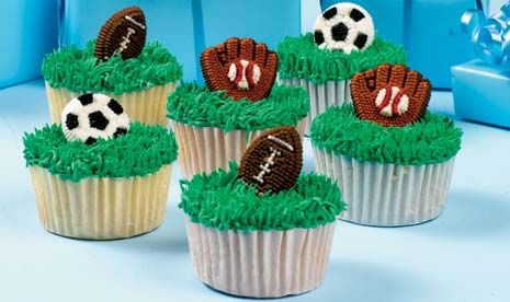 Sporting Fun Cupcakes / Instructions