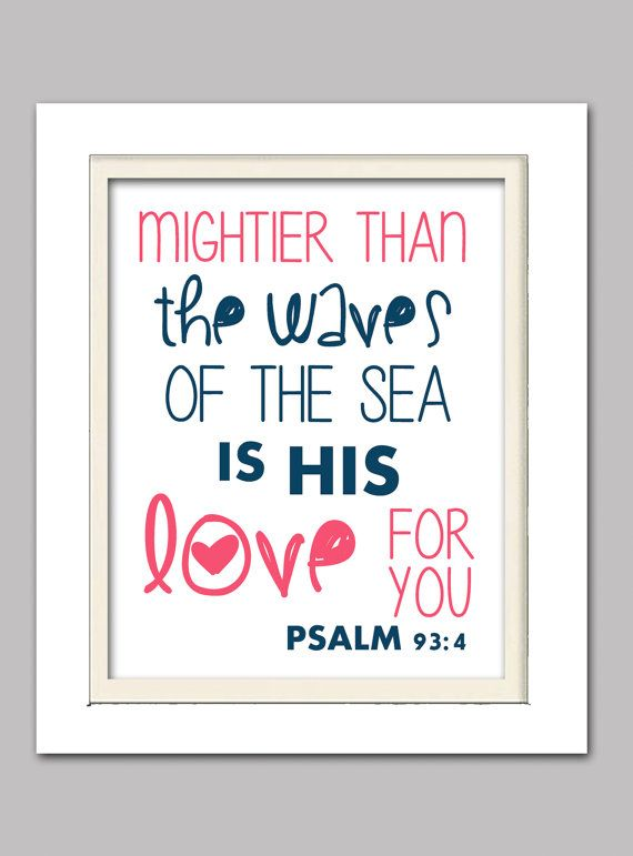 DETAILS Psalm Waves Scripture print 8x10 Print (The frame is not included) If you would like different text/quotes, please let me know and I